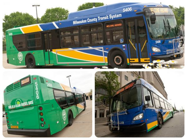 Milwaukee County Transit System Buses