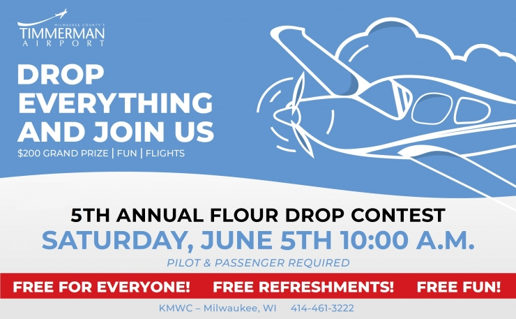 Annual flour drop contest - $200 grand prize, free lunch, pilot & passenger required