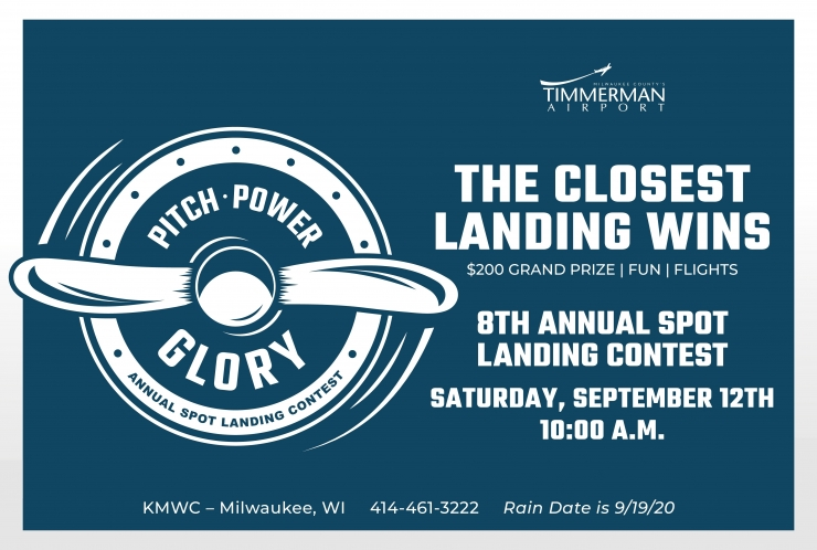 Spot landing contest & lunch - $200 grand prize, free lunch